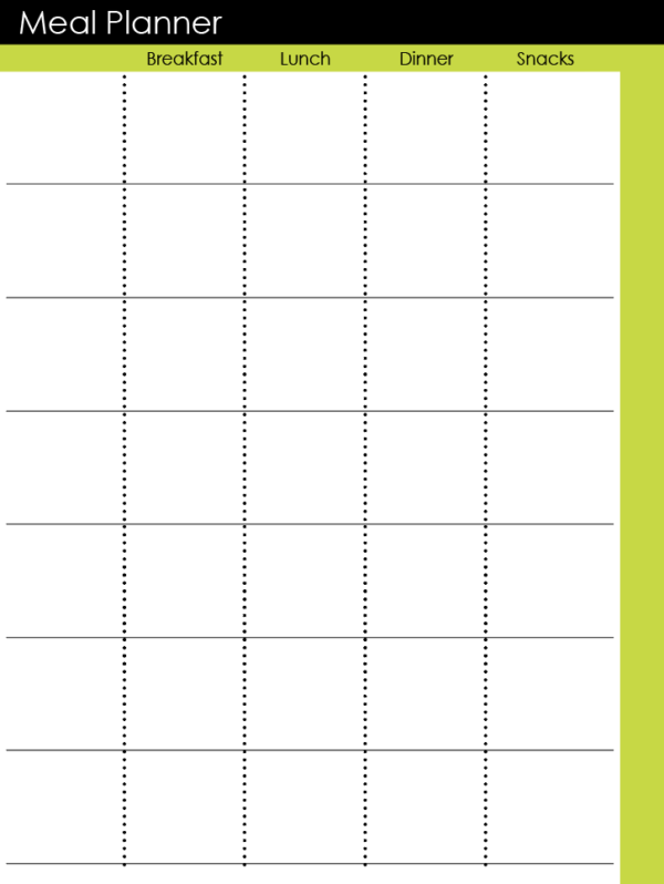 Meal Planner Page
