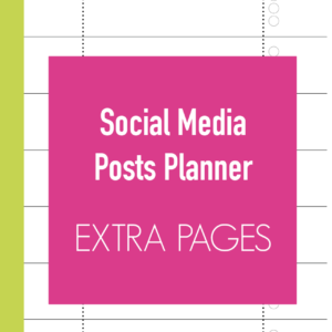 Social Media Posts Planner Extra Pages