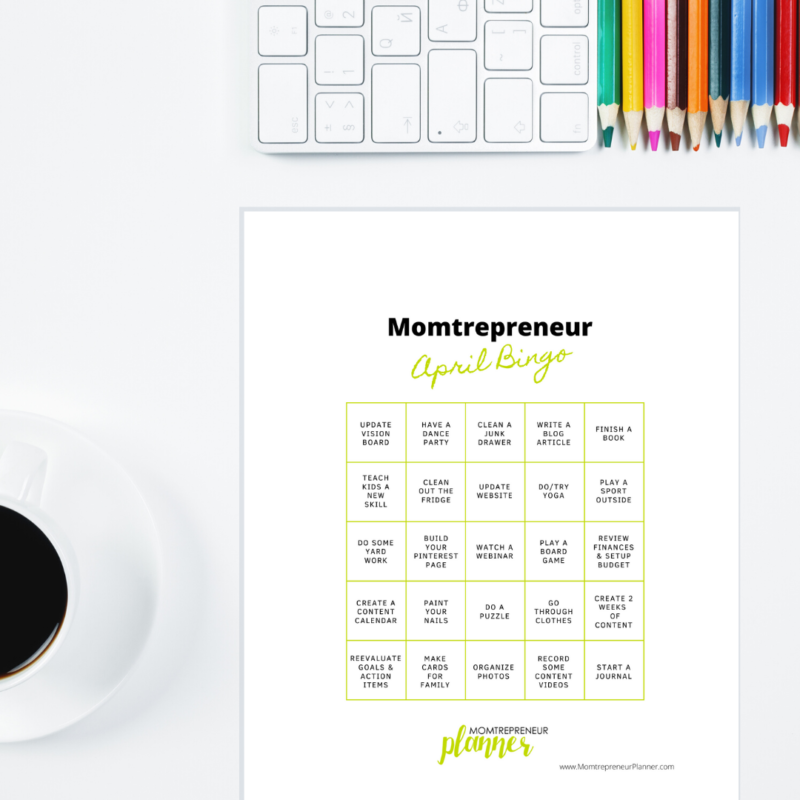 Momtrepreneur April Bingo Post